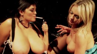 Big Tit Lesbian Smokers