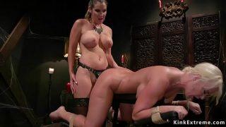 Busty lesbian anal fucks Milf slave tight pussy fuck