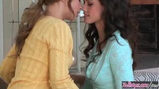 Cute young lesbians (Alyssa Branch, Tiffany Thompson) only fuck girls – Twistys
