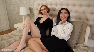Hot homemade lesbian sex with interracial lesbians